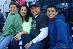 The familia at the Ballpark