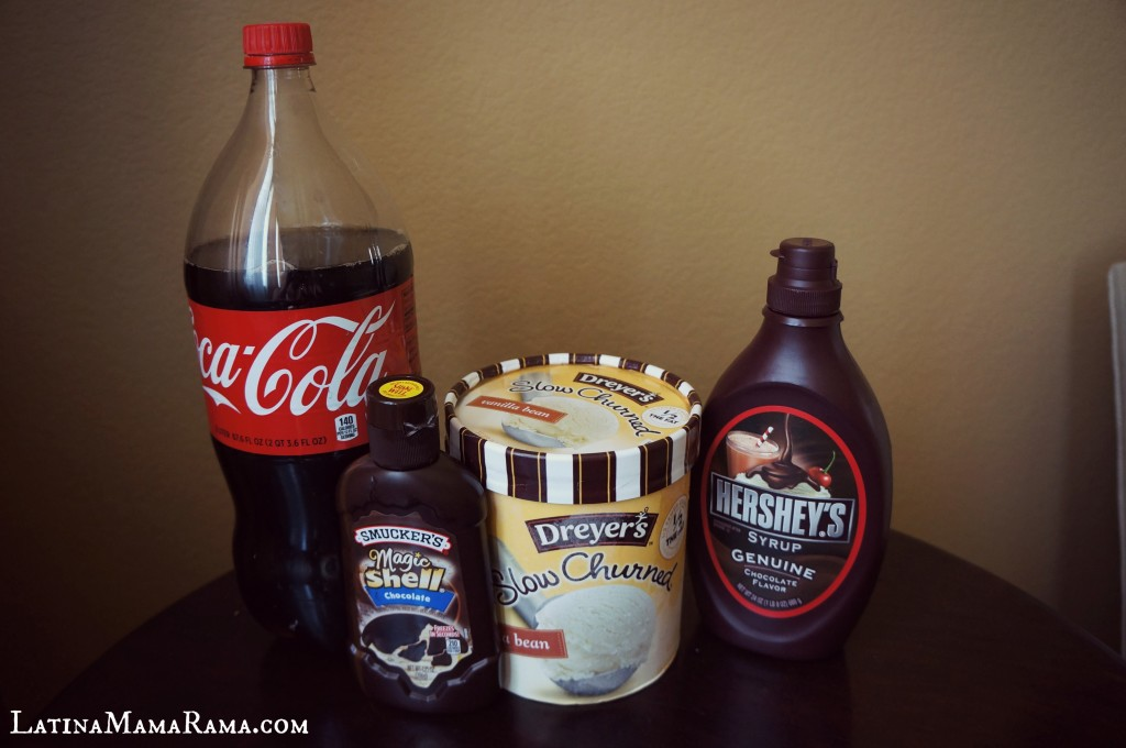 Chocolate Coke Vanilla Float ingredients