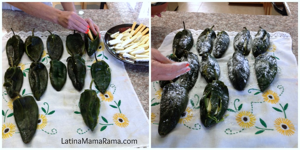 recipe on how to make chile rellenos:receta chile rellenos