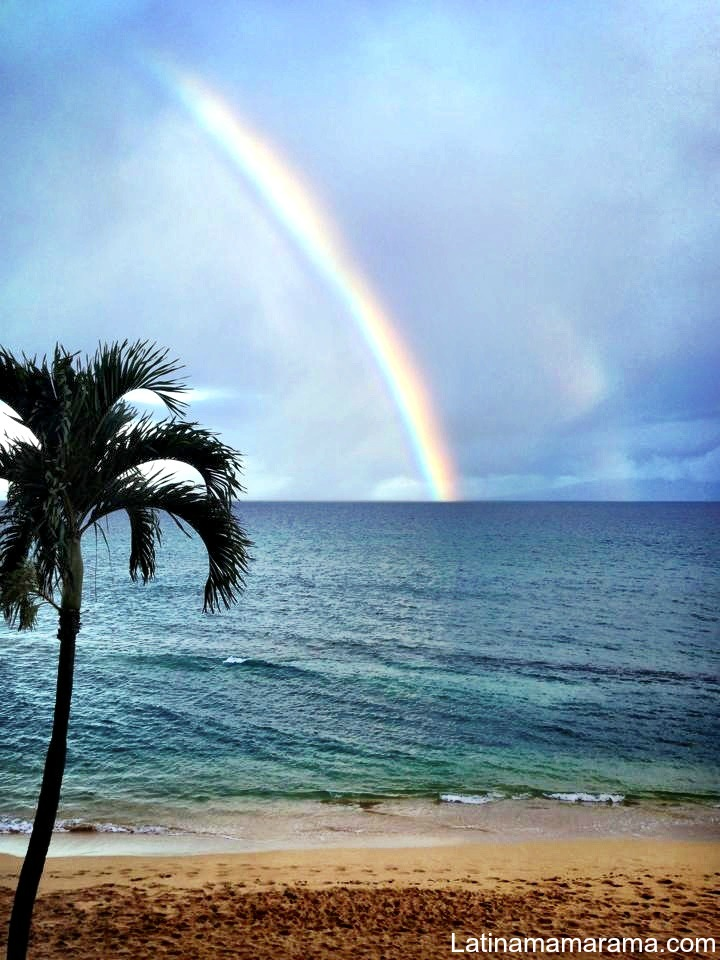 Rainbow from aloha suite kaanapli shores