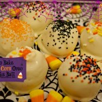 candy corn oreo cake ball
