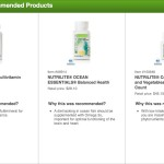 These are my customized results from the  NUTRILITE® Supplement Recommender
