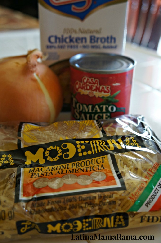 sopa de fideo ingredients