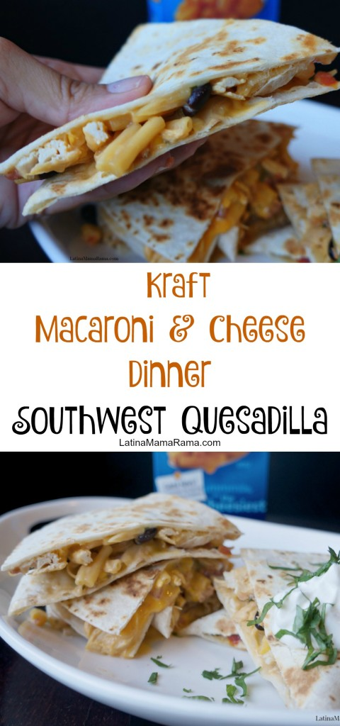 kraft macaroni & cheese southwest quesadilla